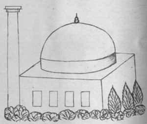 مسجدجامع حسن پادشاه آنگونه که شاردن دیده و کشیده است.